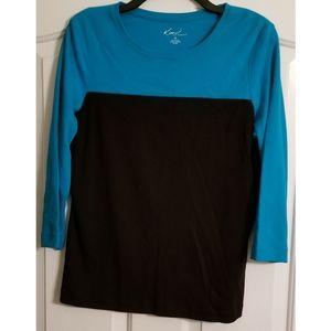 Women's Kim Rogers Medium Color Block T-shirt 3/4